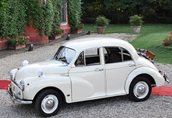affitto morris minor rossa matrimonio roma